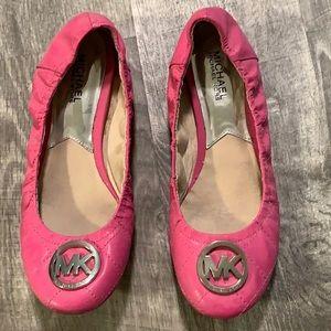 Michael Kors pink flats 7.5